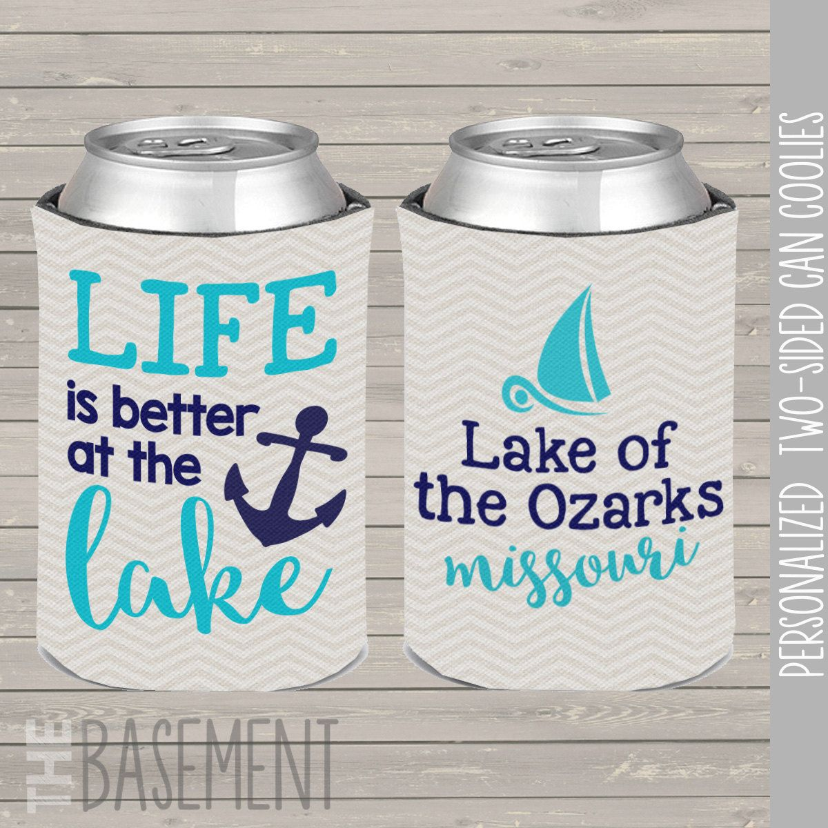 lake coolies, personalized lake coolie, bachelorette party coolies ...