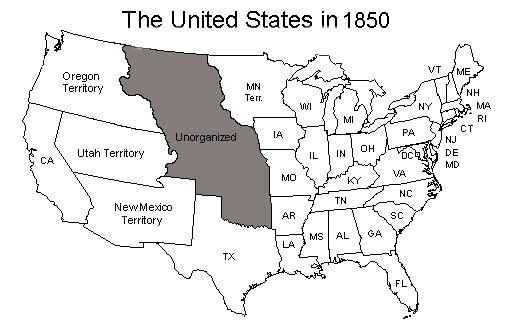 United States Map As Of 1850 Genealogy Pinterest: United States Map 1850 At Codeve.org