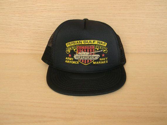 Vintage Mesh Snapback Trucker Hat - Persian Gulf War