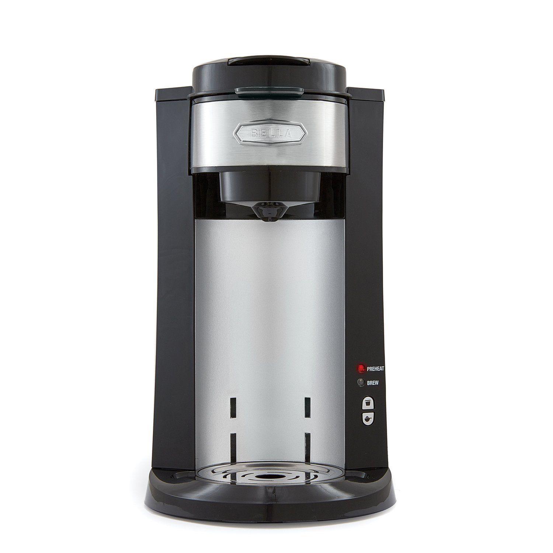 BELLA Dual Brew Single Serve Personal Coffee Maker, K Cup
