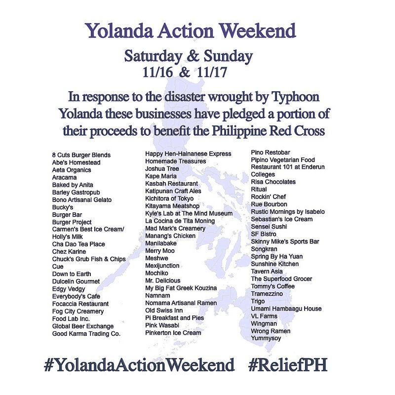 The Yolandaactionweekend Pledge Eatandhelp Mrdeliciousph Awesome Joshua Tree Restaurants Pledge Disaster Response
