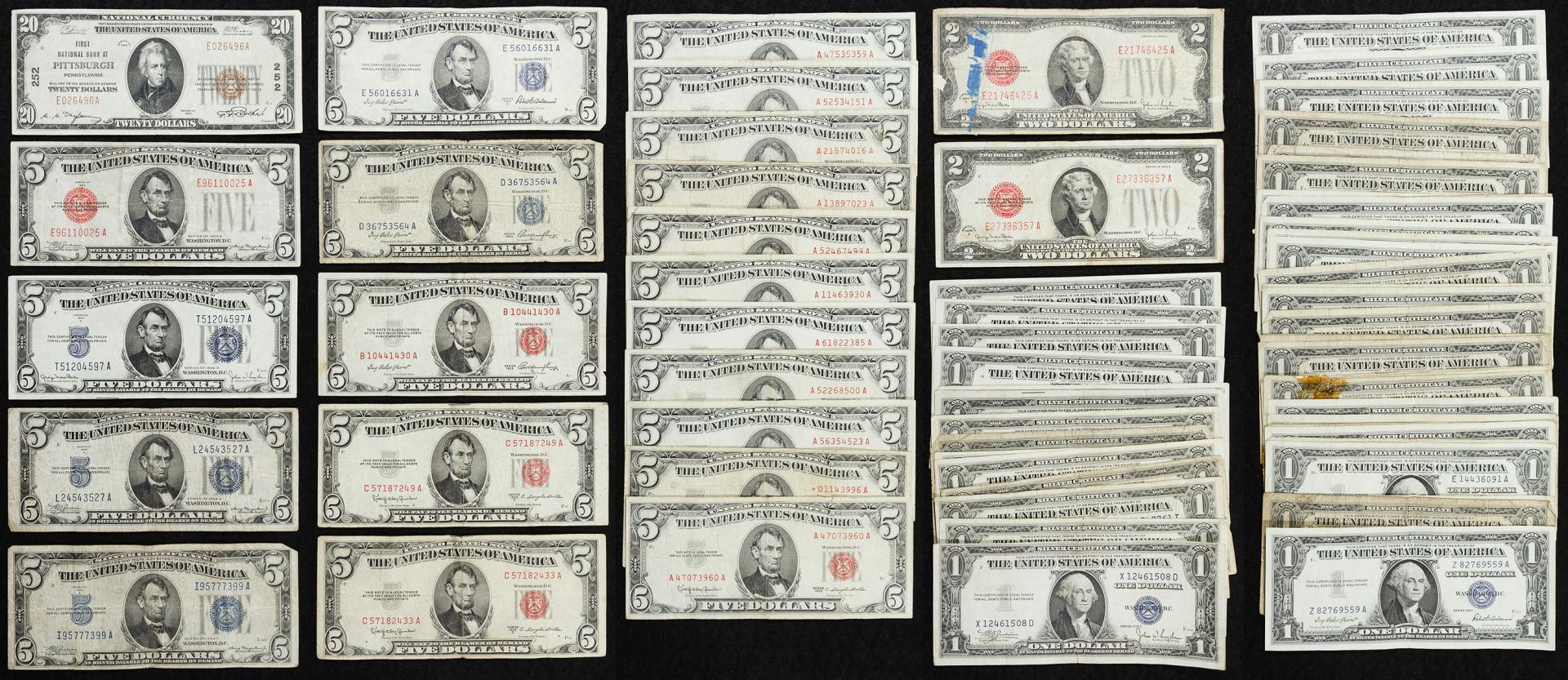 Lot 2 us currency assortment 174 face value us currency 73 lot 2 us currency assortment 174 face value us currency 73 xflitez Gallery
