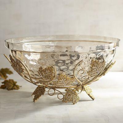 Decorative Bowl With Maple Leaves Pier 40 Imports Deco My Interesting Pier 1 Decorative Bowls