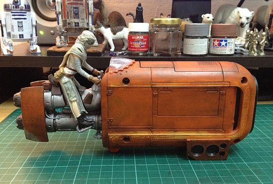 Star Wars Hasbro Rey's speeder repaint | toy | Star wars