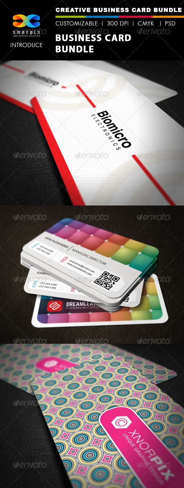 Business Card Bundle 3 In 1 Vol 21 Business Card Texture Round Business Cards Landscaping Business Cards