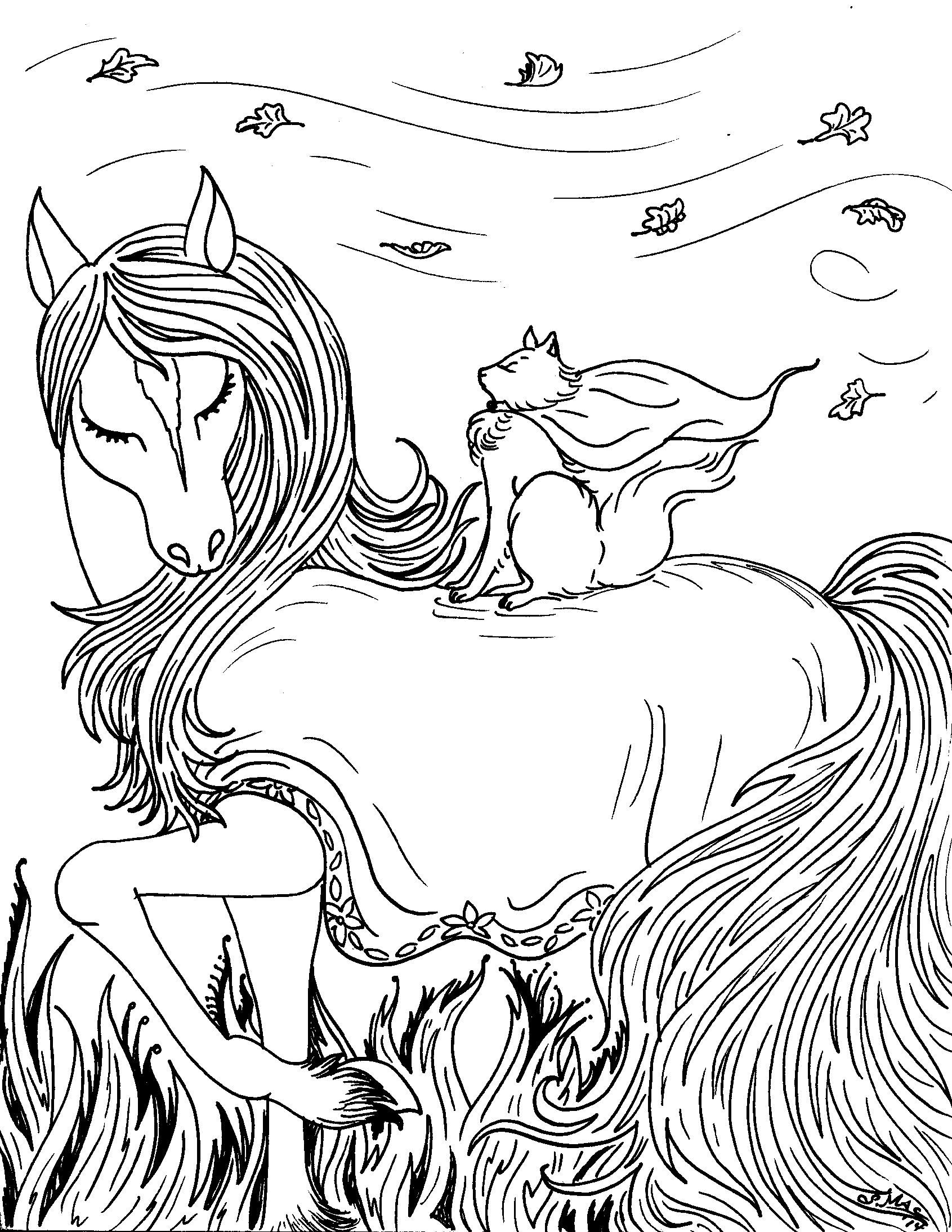 adult coloring pages fantasy mermaids and fairies and elves - Google ...