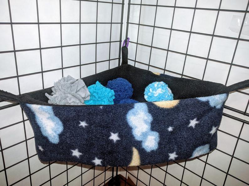 Fleece corner basket w pompoms choose your own colors