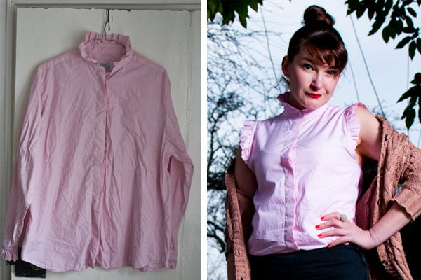 The Peppermint Store: DIY: Retro sleeveless blouse with ruffles