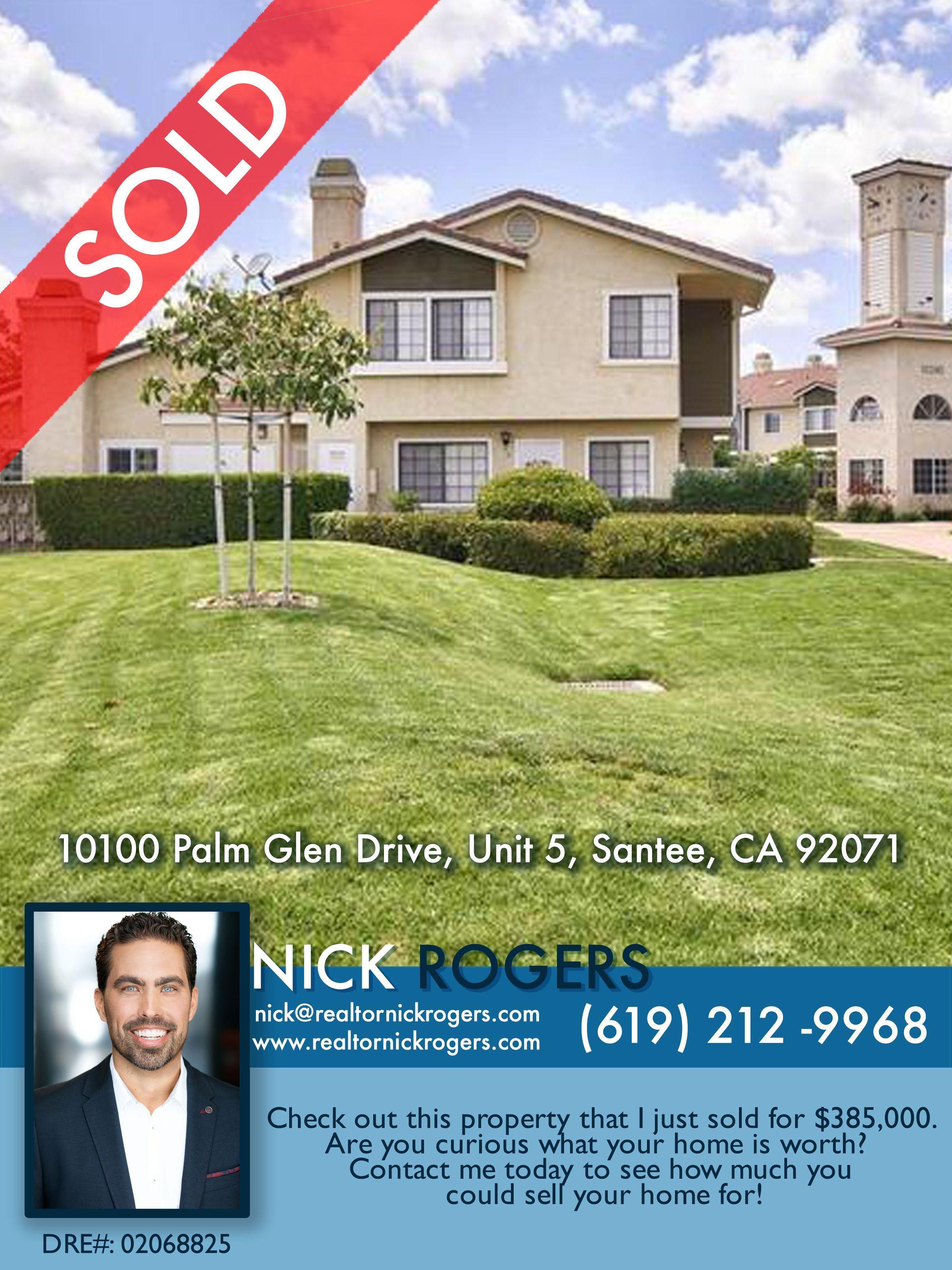 Looking To Purchase This Unit: Another Santee Condo Sold By San Diego Real Estate Agent