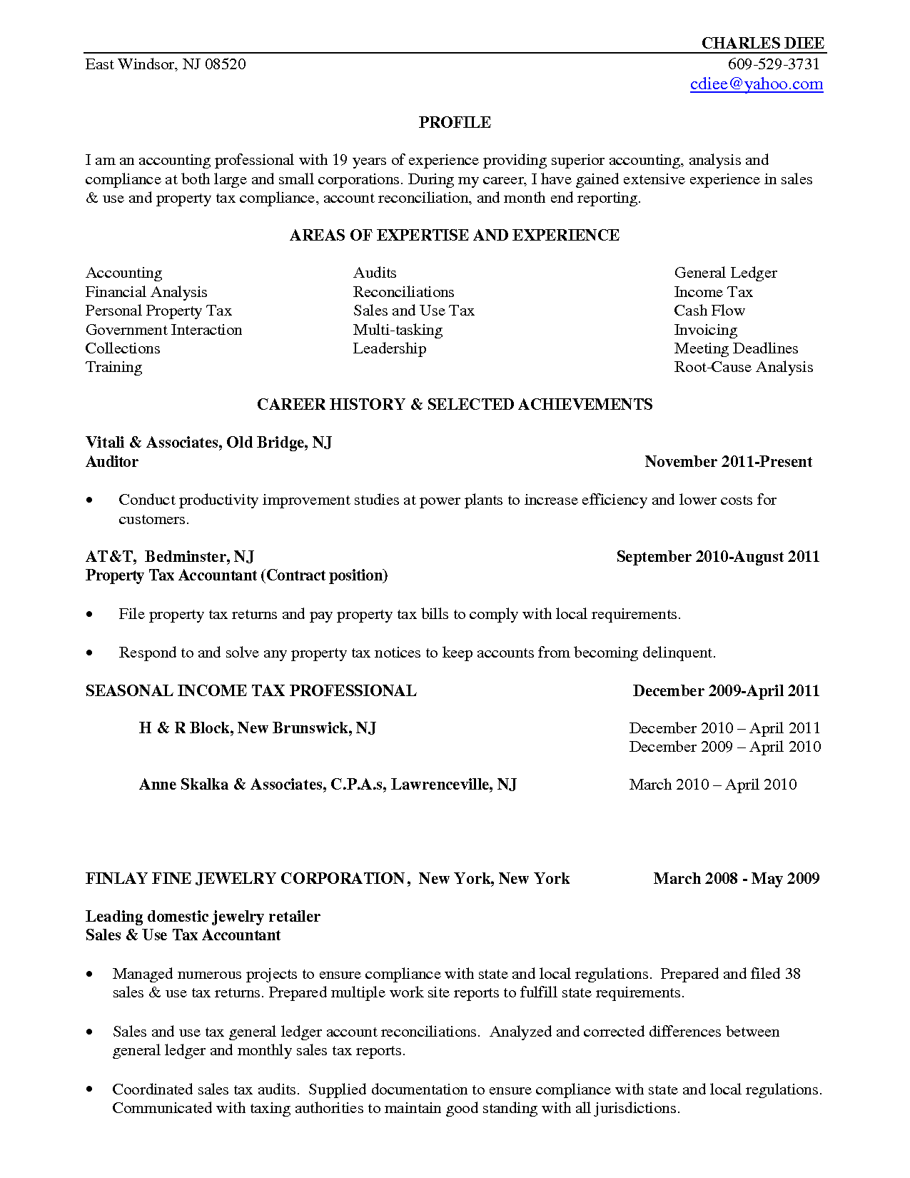 Tax Accountant Resume Sle Tax Accountant Resume 28 Images 31 Free Accountant Resumes Tax .