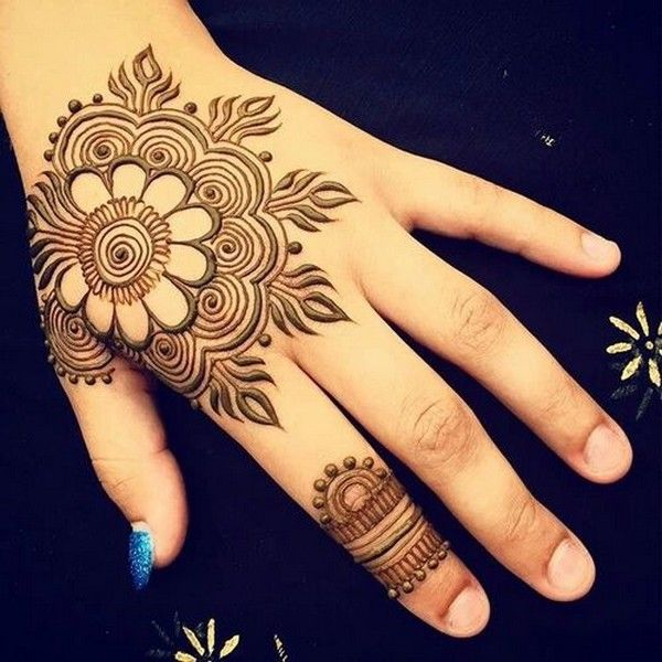 Floral Indian Style Mehndi Art Ideas