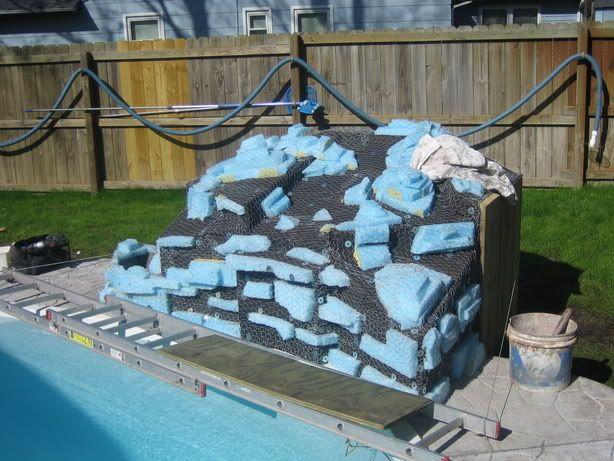 Diy Pool Waterfall Diy Pool Pool Waterfall Building A Pool