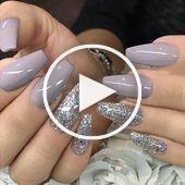 nails; Natural nails; Monochrome nails; Acrylic nails; Sweet nails; Hochz … – #acrylic #monochrome #nails #natural – #New