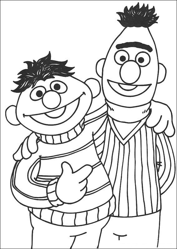 Ernie And Bert Sesame Street Coloring Pages Elmo Coloring Pages