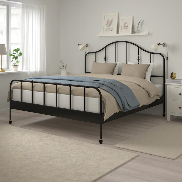 Sagstua Bed Frame Black Luroy King In 2020 With Images