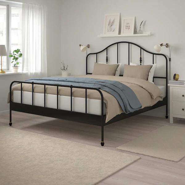 SAGSTUA Bed frame, black, Luröy, King IKEA in 2020