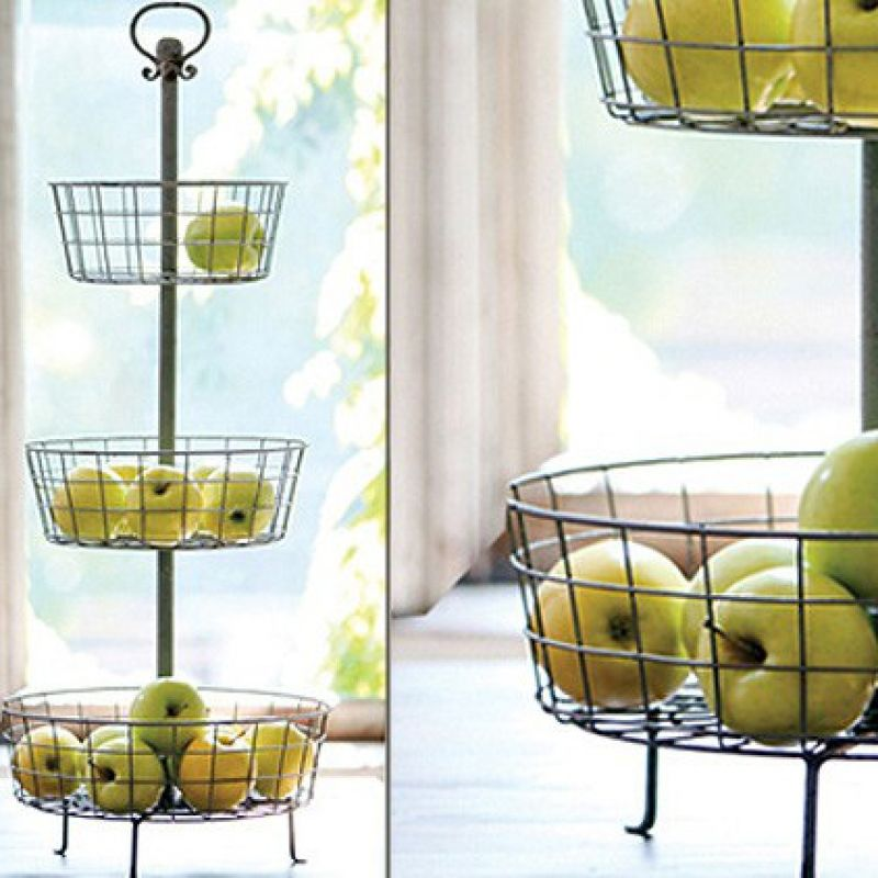 Distressed metal 3 tier basket stand a cottage in the