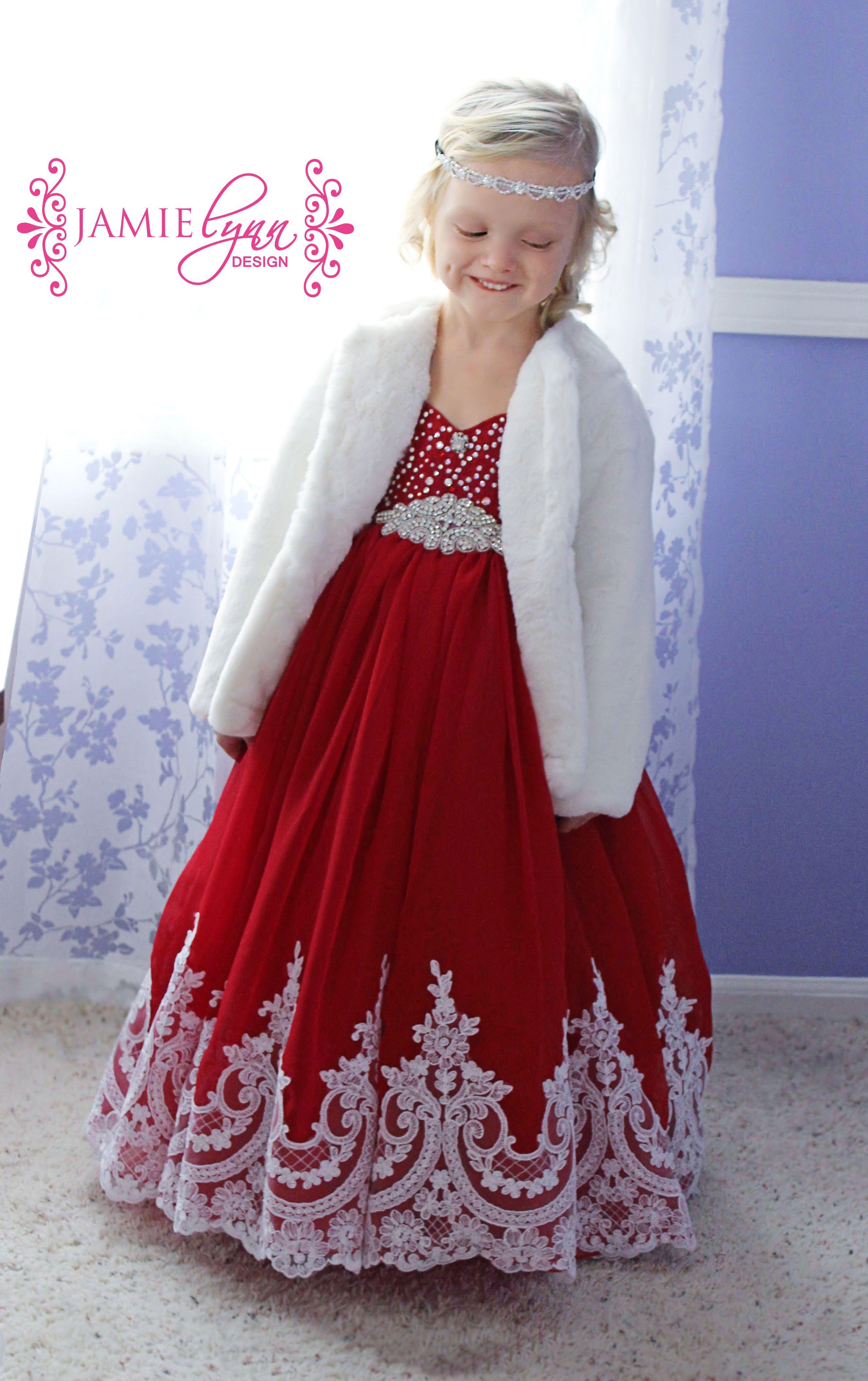 winter wonderland, red Christmas dress, fancy red dress ...
