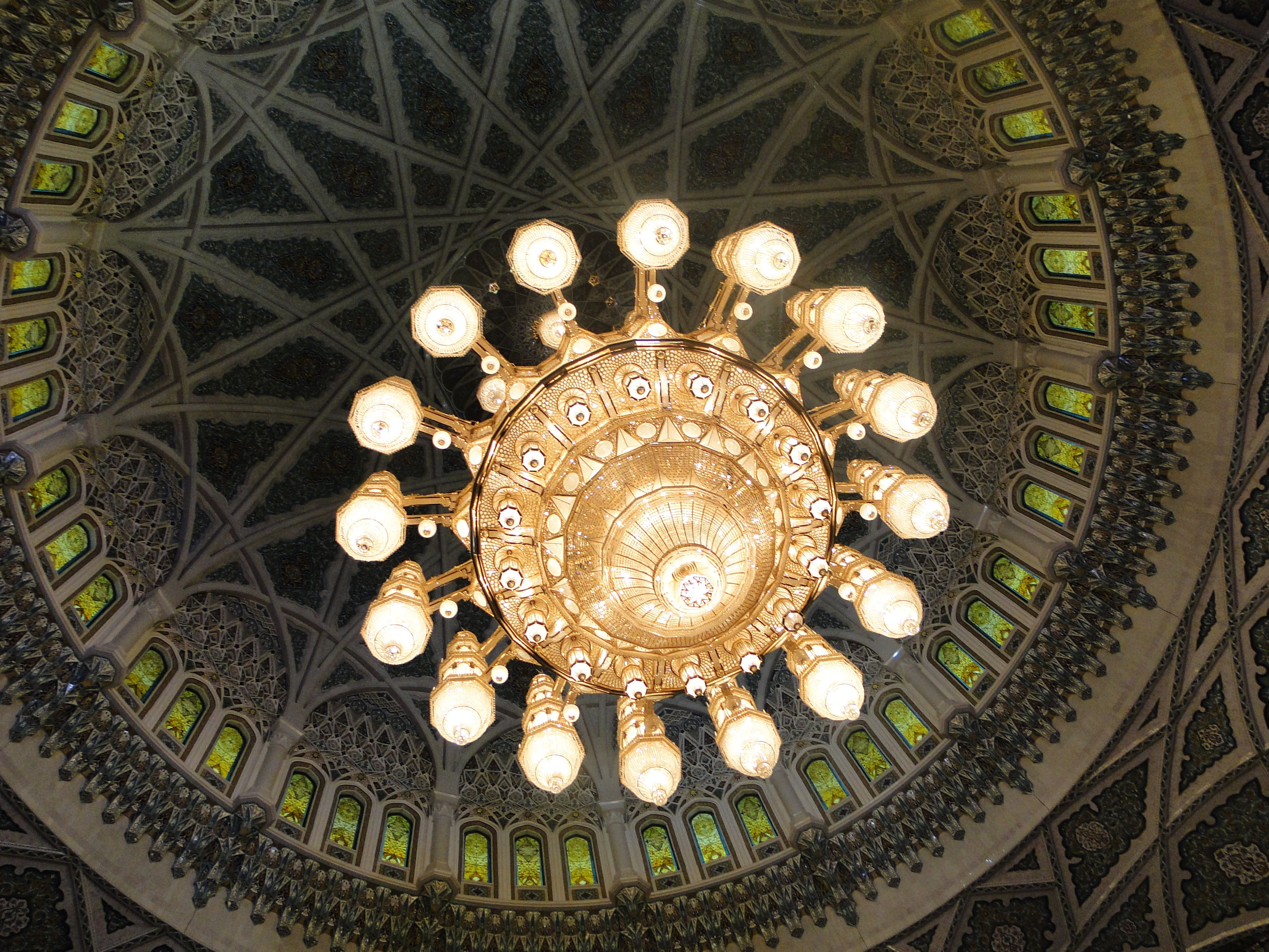 One of the worlds largest chandeliers from underneath grand mosque one of the worlds largest chandeliers from underneath grand mosque muscat oman arubaitofo Image collections