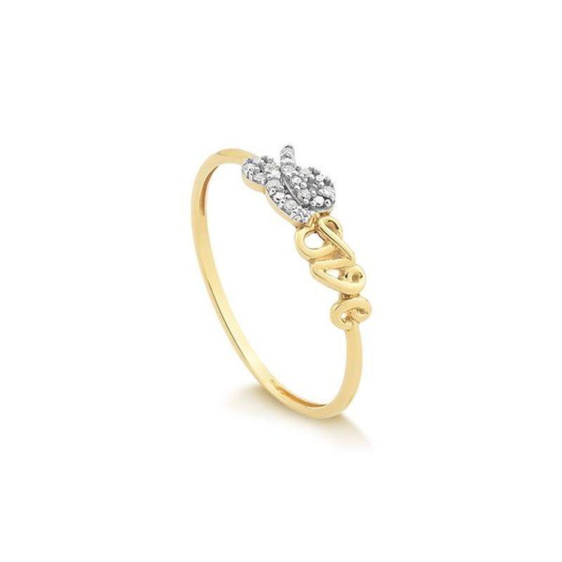 Anel em Ouro 18k Love com Brilhantes  Safira  SafiraOnline  ÉPraVocê  Anéis    f31f5b07c9