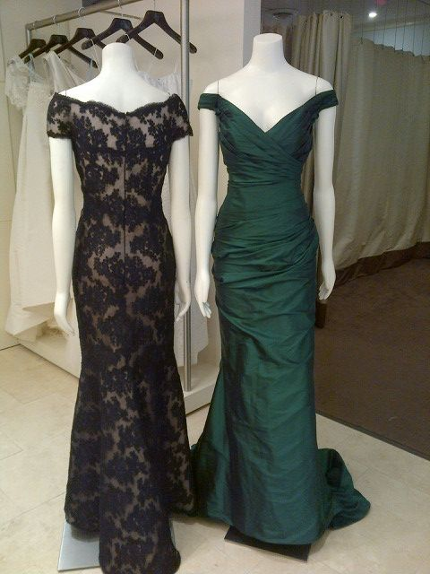 Rose Taft (black lace) & Romona Keveza (emerald) | MOB ideas ...