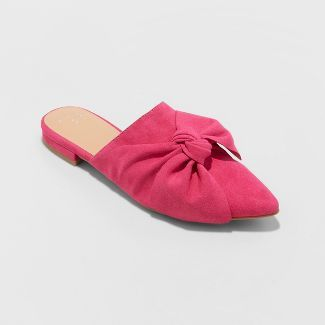 31847eb80dc2 Women's Rhea Mules With A Bow - A New Day™ Pink at Target. Affiliate link.