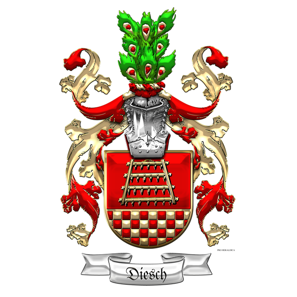 Family Heraldry: Diesch family Coat of Arms (3D) by Serge Averbukh ...