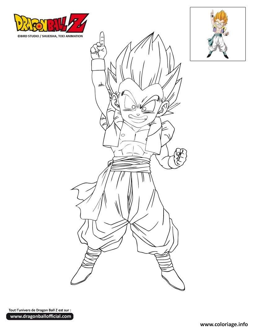 Coloriage dbz gotenks sur le point de frapper dragon ball - Naruto a colorier ...