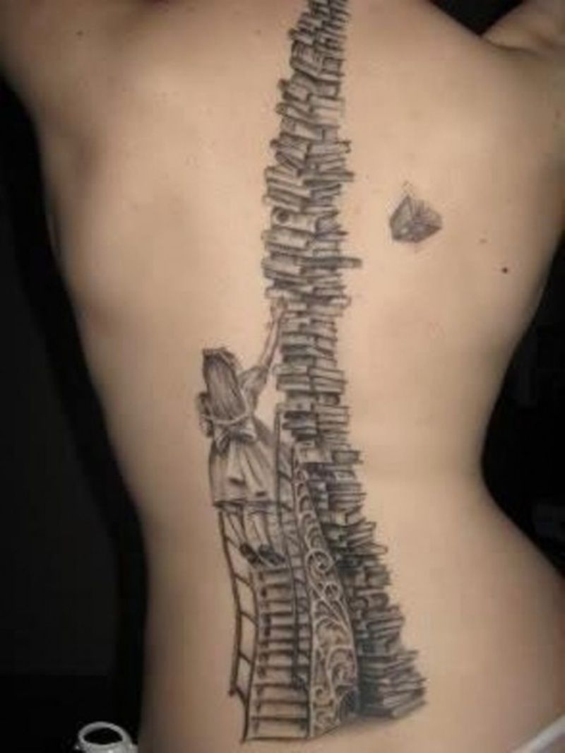 3. #Bounteous #Books - 7 #Clever Tattoos for #People Who Love Literature ... → #Lifestyle #Quill