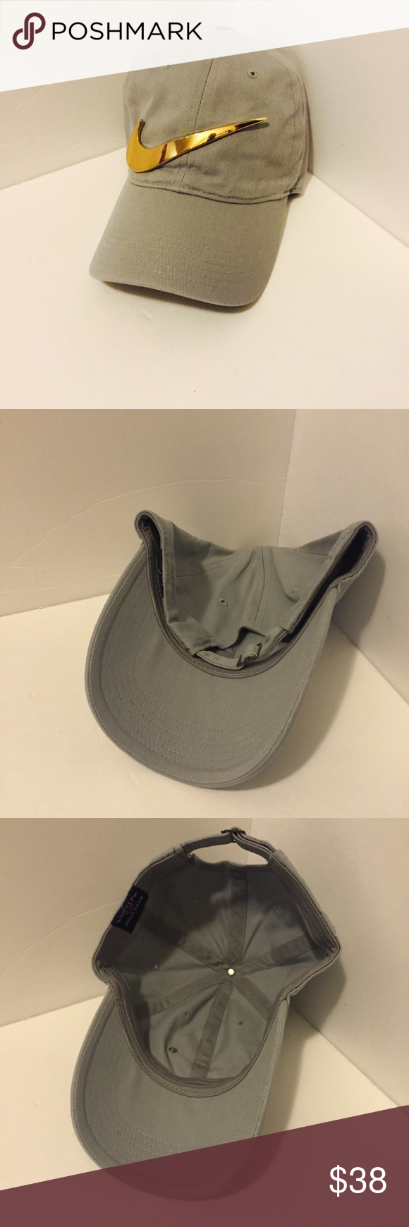 3872f93d2f53 Nike hat Custom made with a gold metal Swoosh Don t ask me to lower ...