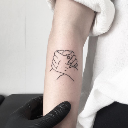 how cool is this minimal and artsy best friend tattoo tattoos pinterest tatuajes ideas. Black Bedroom Furniture Sets. Home Design Ideas