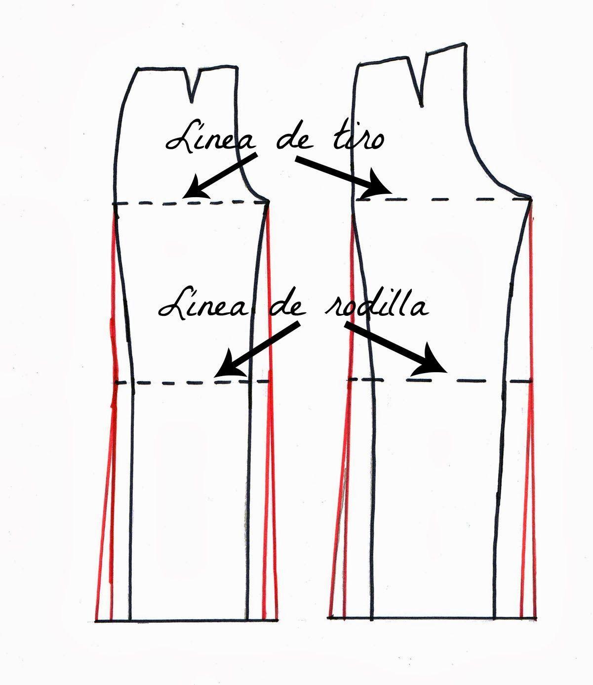 Patrón de pantalón de pata de elefante. | costura | Pantalones ...