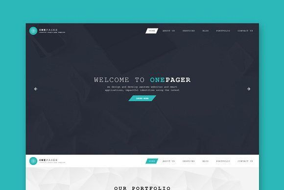 One Page Single Page Html Template Html Css Themes Psd Templates Templates Template Site