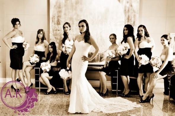 Our Black and Ivory Bridesmaid Dresses : wedding black bridesmaid ...