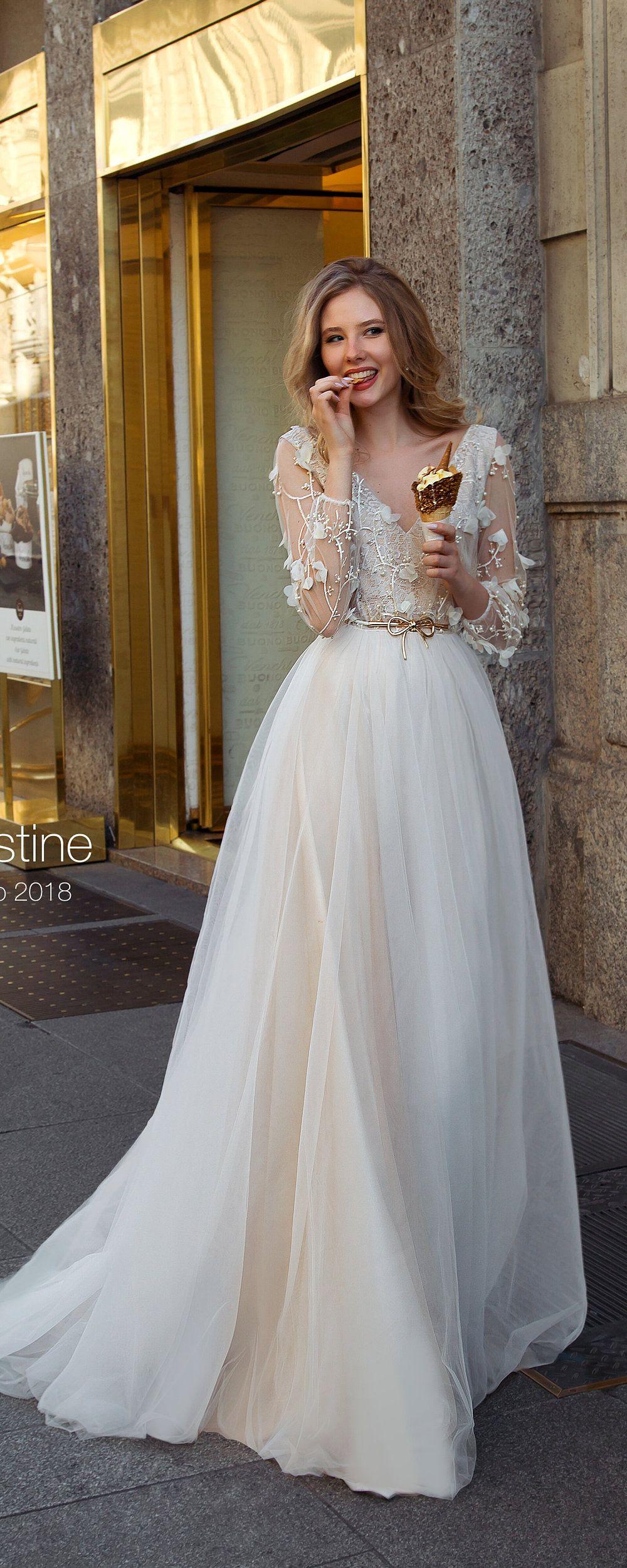 Boho wedding dress with sleeves  Bohemian wedding dress wedding dress long sleeve wedding dress