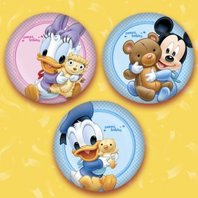 Disney Baby Shower Favors   Disney Babies PINS BUTTONS PARTY FAVORS TREATS BABY  SHOWER
