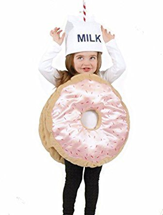 a4ee8a1390 Amazon.com  Strawberry Sprinkle Donut and Milk Hat Costume - 2pcs Size 2-6  years old  Clothing