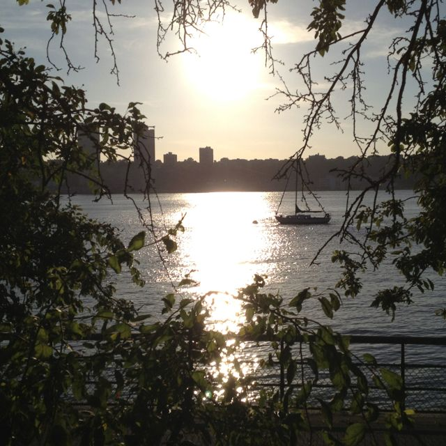 Riverside Park. NYC. Another favorite spot to hang out, ride bikes, run or walk. The Hudson River Cafe is great in the summer!