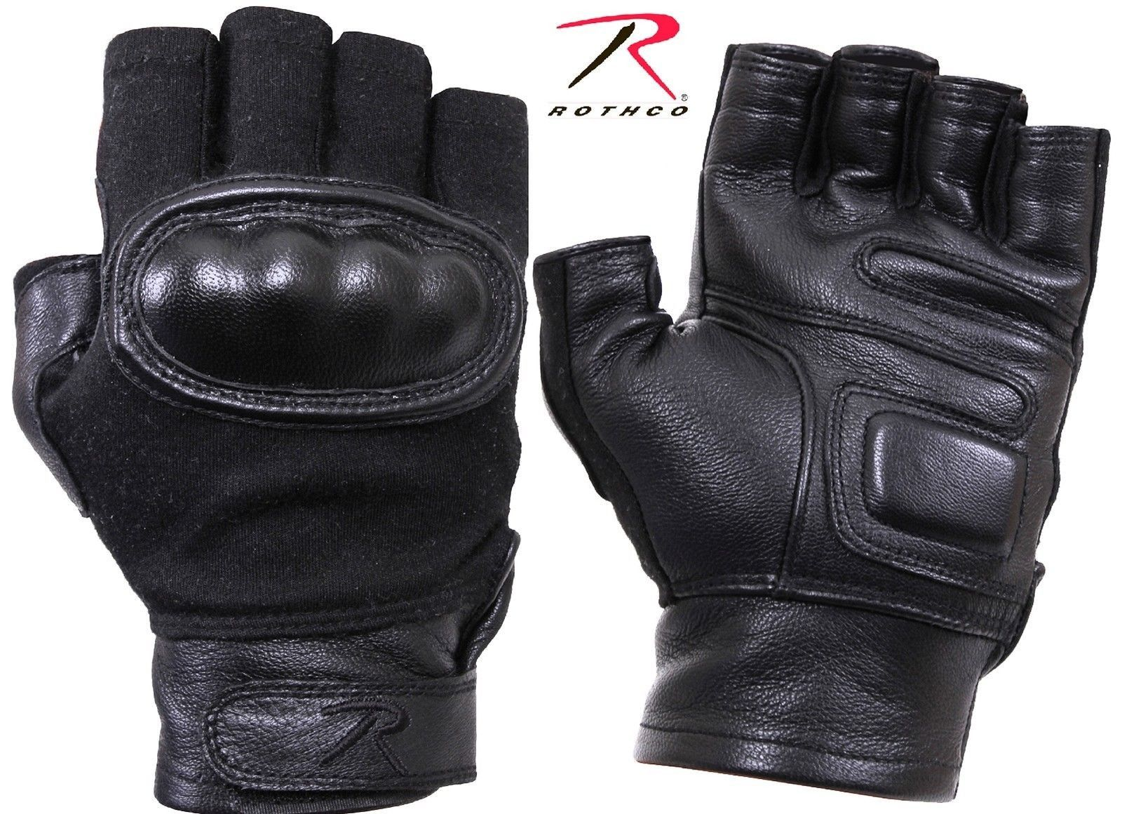 Black gardening gloves - Black Hard Knuckle Fingerless Gloves Mens Tactical Duty Field Work Gloves