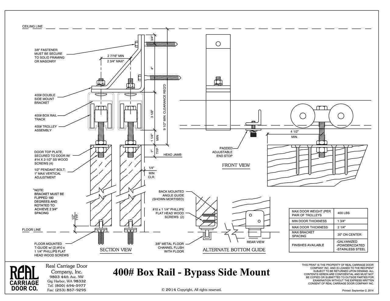 Box Rail Bypass Barn Door Hardware Kit Interior Exterior 400 Lb In 2020 Bypass Barn Door Hardware Bypass Barn Door Sliding Doors Exterior