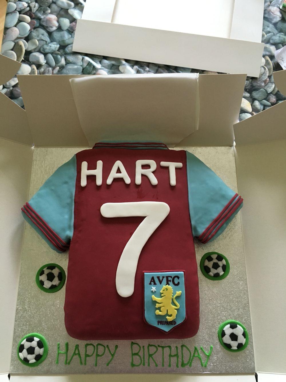 Aston Villa Shirt Finished 60th Birthday Cakes Kids Birthday 40th Birthday
