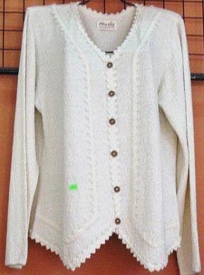 Vintage Folklore Bluse Damen 38 Handbestickt Handgenaht Eur