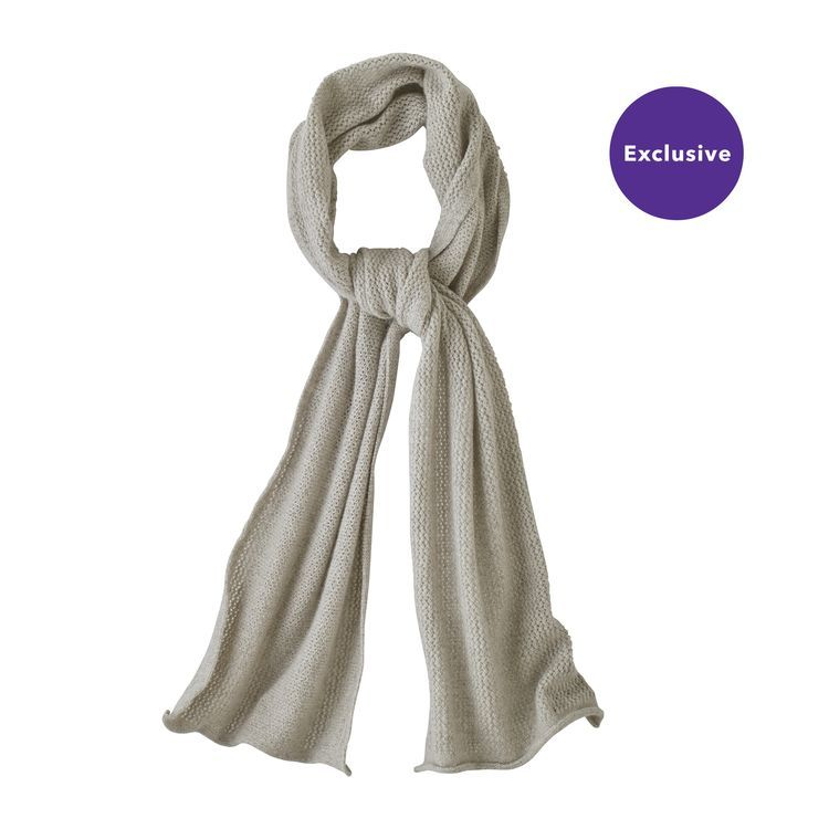 3656a13c83a Women s Recycled Cashmere Pointelle Scarf