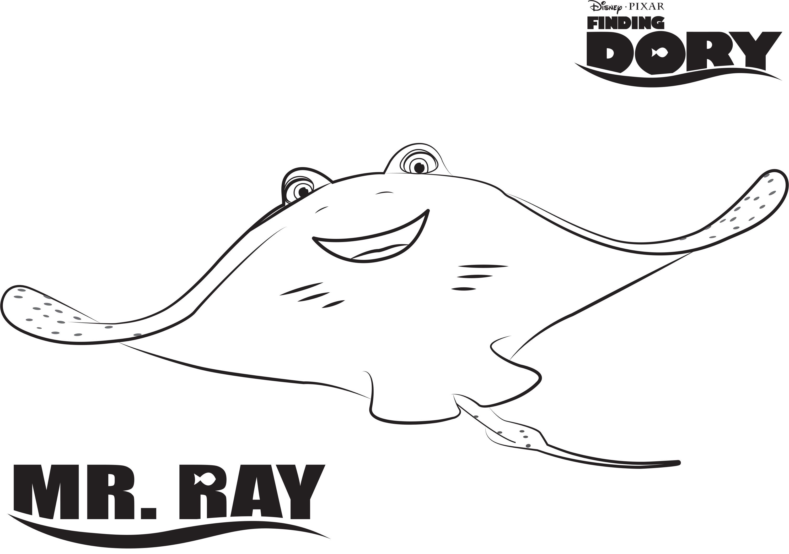 Dory Finding Dory Printable Coloring Page Nemo Coloring Pages