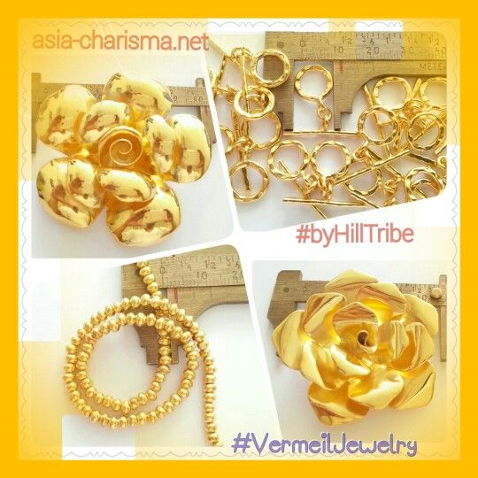 VermeilJewelry byHillTribe gold and pink gold vermeil jewelry