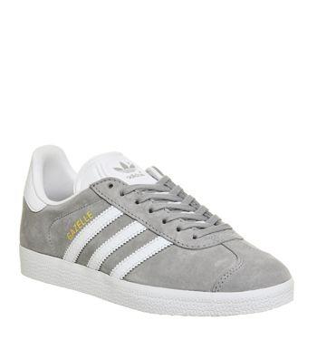 Adidas, Gazelle, Mid Grey White | Adidas samba sneakers, White ...