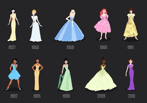 They look like Red Carpet Dresses | Disney princess ...