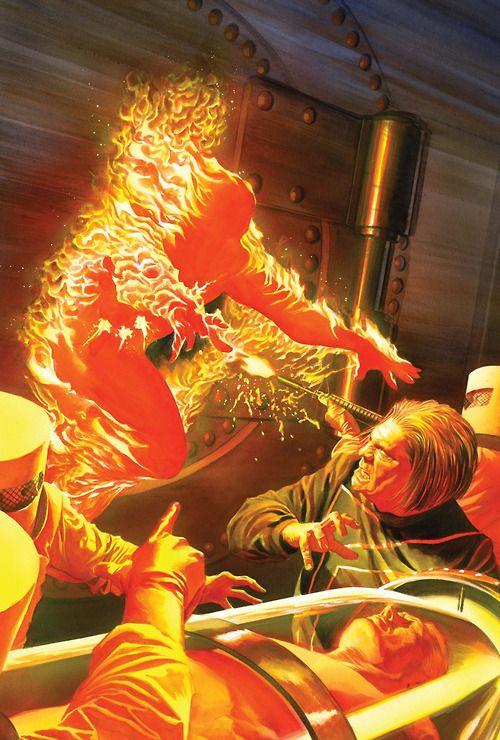 Comic Book Artwork • The Human Torch by Alex Ross | Alex ross, Marvel art, Comic art community