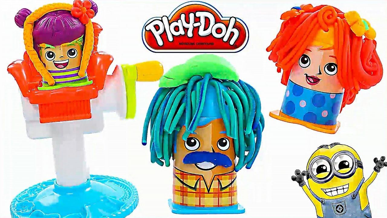 Learn Colors Play Doh Crazy Haircut Diy Play Doh Pinterest