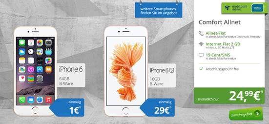 2gb Lte Comfort Allnet Eu Roaming Fur 24 99 Und Smartphone Ab 1 Handyvertrag Smartphone Apple Iphone